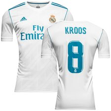 real madrid home shirt 2017/18 kroos 8 - football shirts
