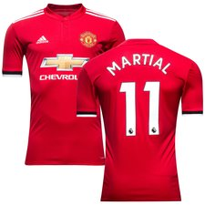 manchester united home shirt 2017/18 martial 11 kids - football shirts