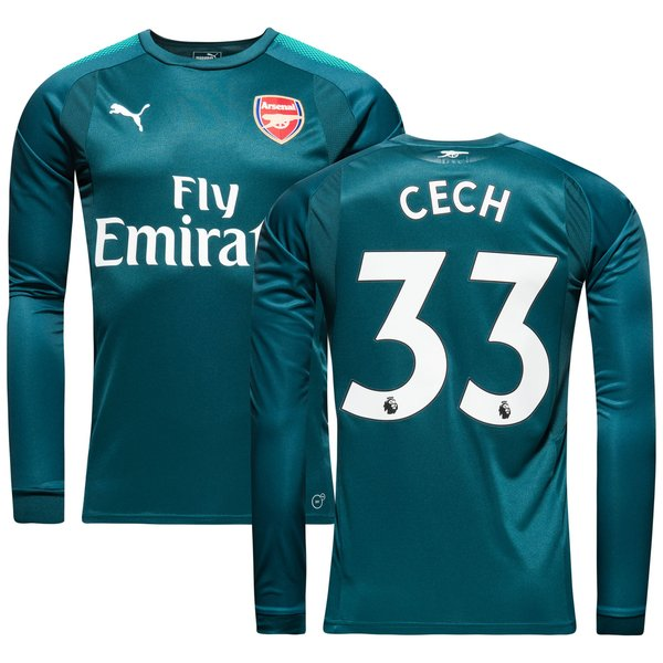 brand new 99c50 1dddb Arsenal Goalkeeper Shirt Home 2017/18 CECH 33 Kids | www ...