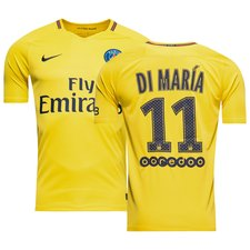 paris saint germain away shirt 2017/18 di maría 11 - football shirts