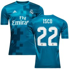 real madrid 3rd shirt 2017/18 isco 22 - football shirts
