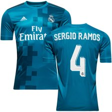 real madrid 3rd shirt 2017/18 sergio ramos 4 kids - football shirts