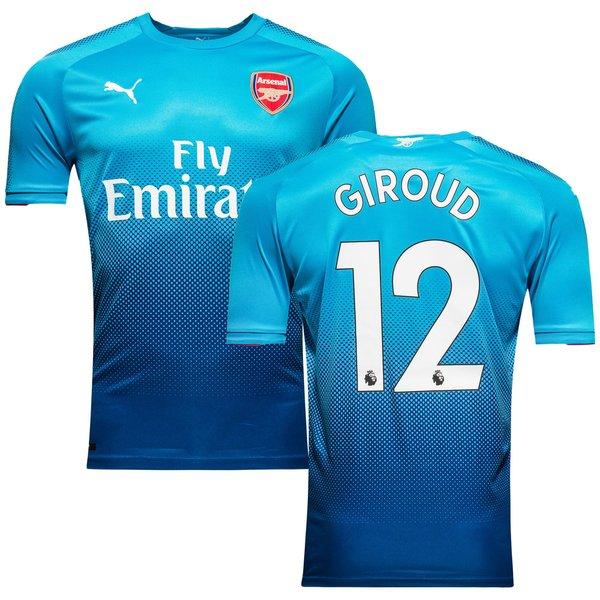 Arsenal maillot ext rieur 2017 18 giroud 12 enfant www for Maillot arsenal exterieur 2017