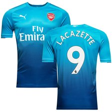 arsenal away shirt 2017/18 lacazette 9 - football shirts