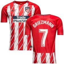 atletico madrid hjemmebanetrøje 2017/18 griezmann 7 børn - fodboldtrøjer
