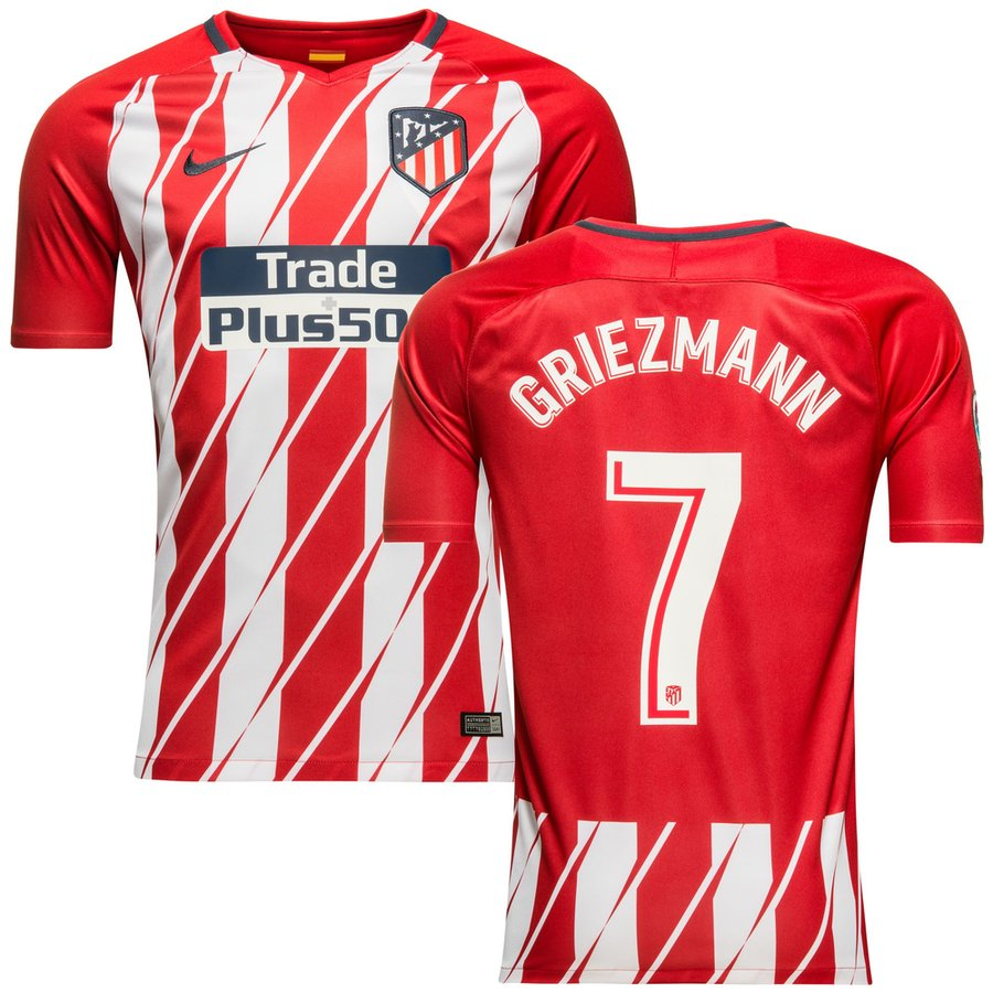 atletico madrid maillot domicile 2017 18 griezmann 7 enfant. Black Bedroom Furniture Sets. Home Design Ideas