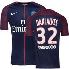 paris saint-germain hjemmebanetrøje 2017/18 dani alves 32 - fodboldtrøjer