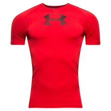 under armour compression heatgear armour - rød/sort børn - baselayer