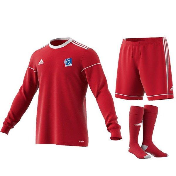 lyngby bk  målmandssæt rød årgang 2013 - fodboldtrøjer