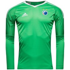 fc copenhagen goalkeeper shirt 2017/18 green kids - football shirts