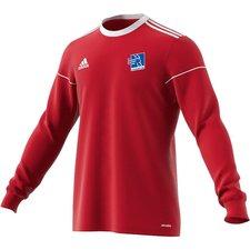 lyngby bk - målmandstrøje rød 2009 m. ejendomsmægler jesper nielsen - fodboldtrøjer