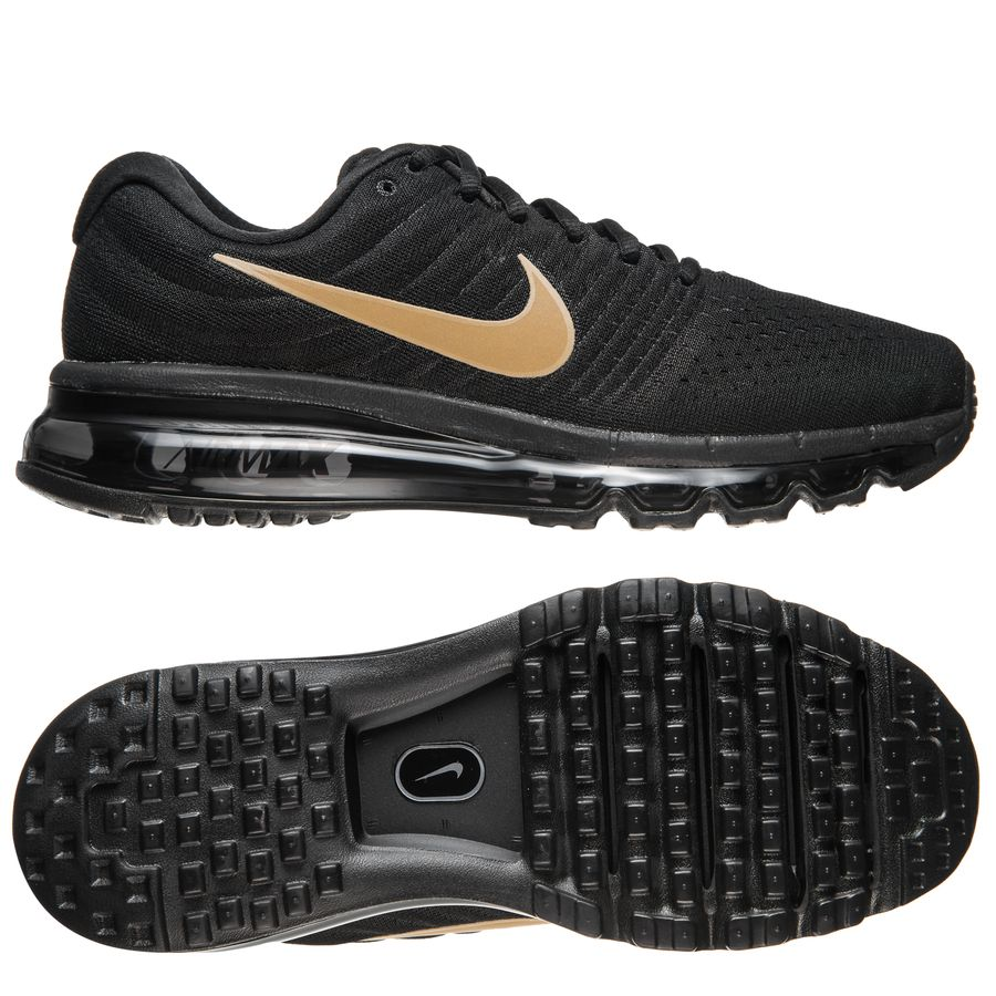 nike air max 2017 - black/metallic gold kids - sneakers