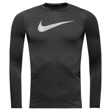 Image of   Nike Pro Warm Compression Mock L/Æ - Sort/Grå Børn