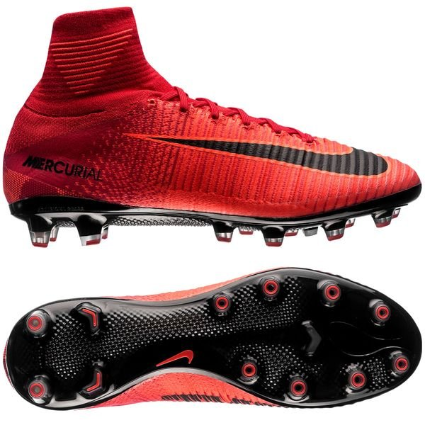 nike mercurial superfly v ag-pro fire - university red black - football  boots ... 1eaae572bd08