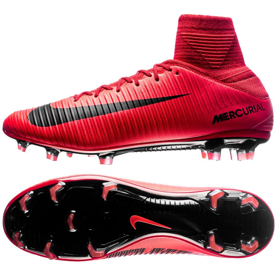 nike mercurial veloce iii df fg fire - university red black - football  boots ... 175dc17667080