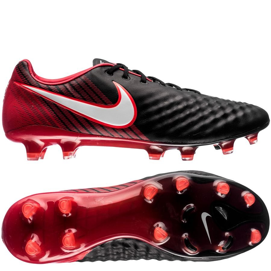 nike magista opus ii fg fire - black white university red - football boots  ... 0fe047bbbbb03