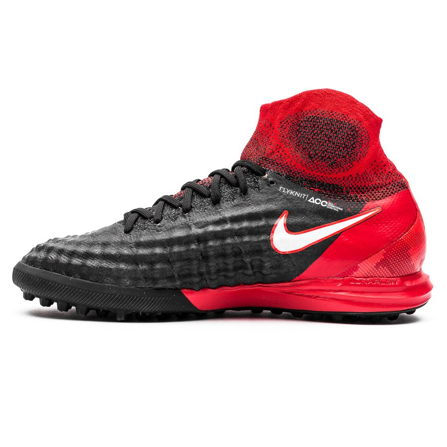 nike magistax proximo ii df tf fire - black white university red kids - fe8969fdb3e