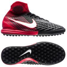 nike magistax proximo ii df tf fire - sort/hvid/rød børn - fodboldstøvler