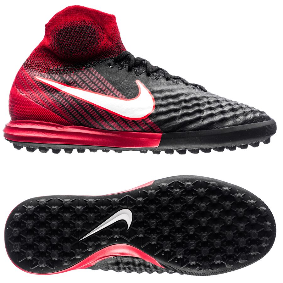 nike magistax proximo ii df tf fire - black white university red kids ... ebe8e908e74