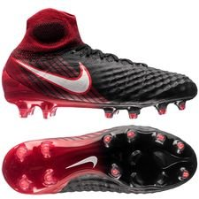 nike magista obra ii fg fire - black/white/university red kids - football boots