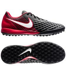 nike magistax onda ii tf fire - sort/hvid/rød - fodboldstøvler