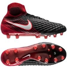 nike magista obra ii ag-pro fire - black/white/university red - football boots