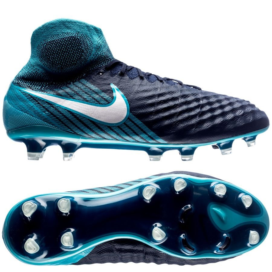 nike magista obra ii fg ice - obsidian/white/gamma blue - football boots