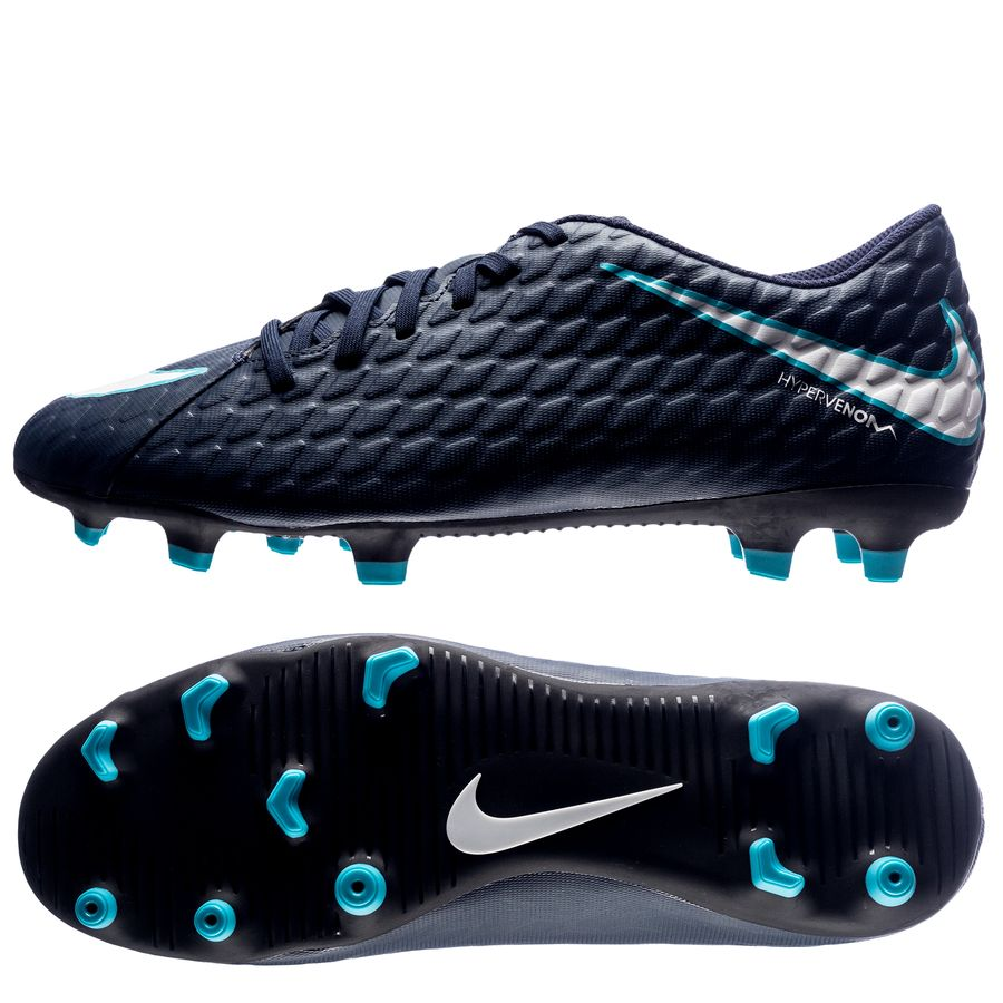 Nike Hypervenom Phade Blå Græs (FG) Mænd
