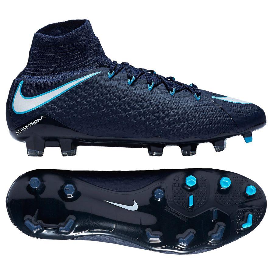 Nike Hypervenom Phatal Blå Græs (FG) Mænd