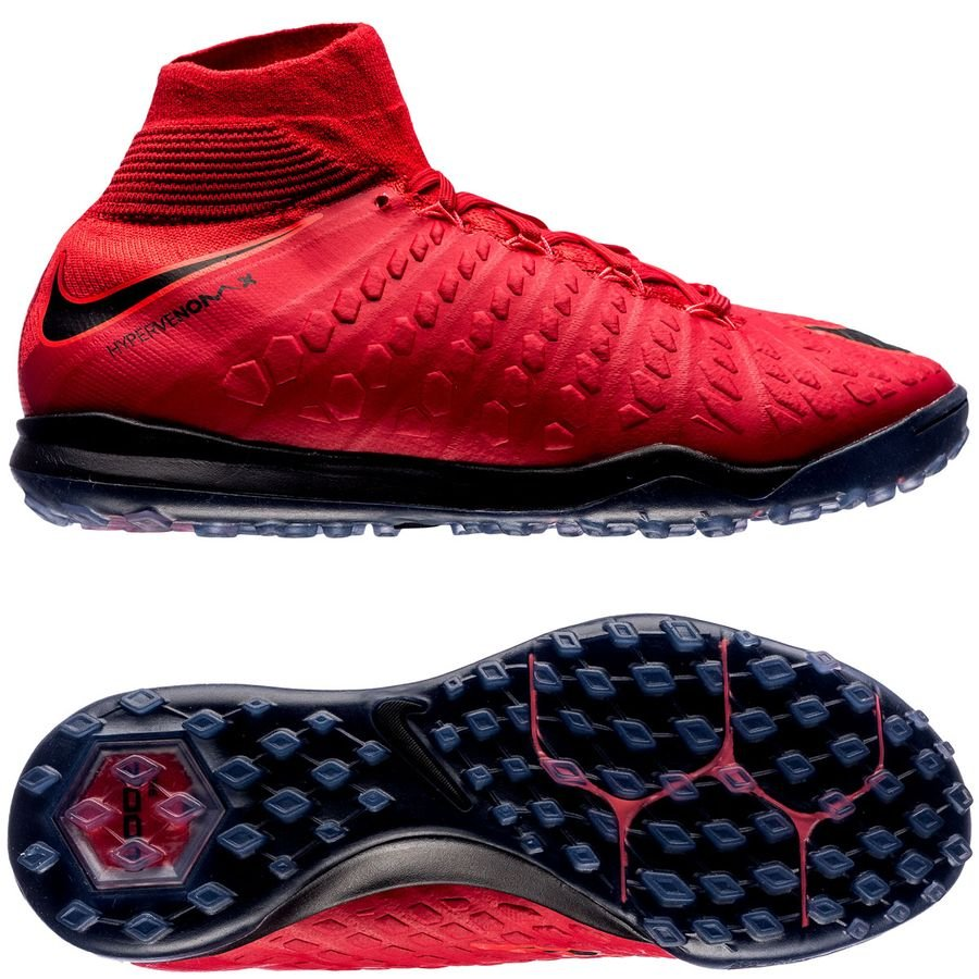 Nike HypervenomX Proximo II DF TF Nike HypervenomX Proximo II DF TF Fire - University Red/Black Kids ...
