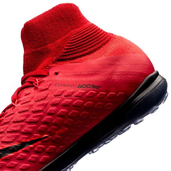 new concept dedf6 5ffa2 Nike HypervenomX Proximo II DF TF Fire - Rød Sort Barn 10