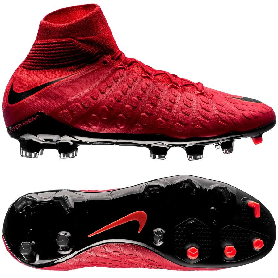 nike hypervenom phantom 3 df fg fire - university red black kids - football  boots ... 2fd770f19