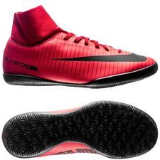 Nike MercurialX Victory VI DF IC Fire - Rood/Zw...