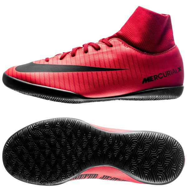 Nike MercurialX Victory VI DF IC Fire RougeNoir Enfant