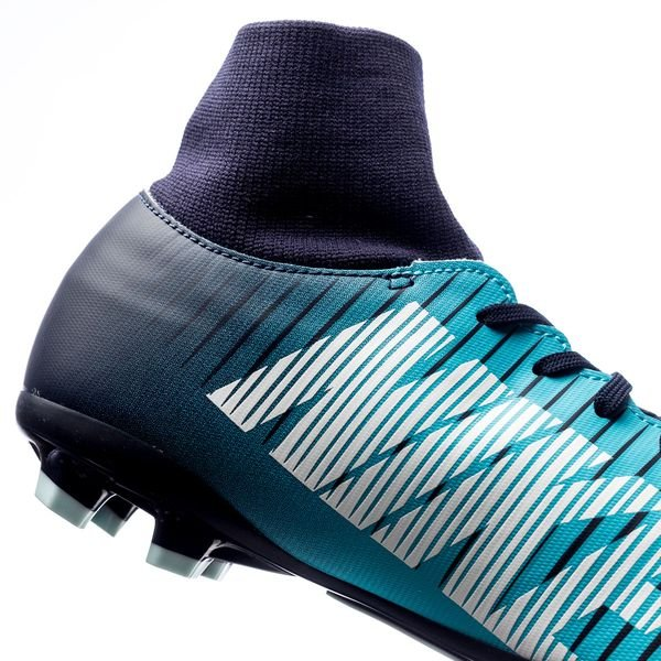 top design shoes for cheap authorized site Nike Mercurial Victory VI DF FG Ice - Obsidian/White/Gamma Blue Kids