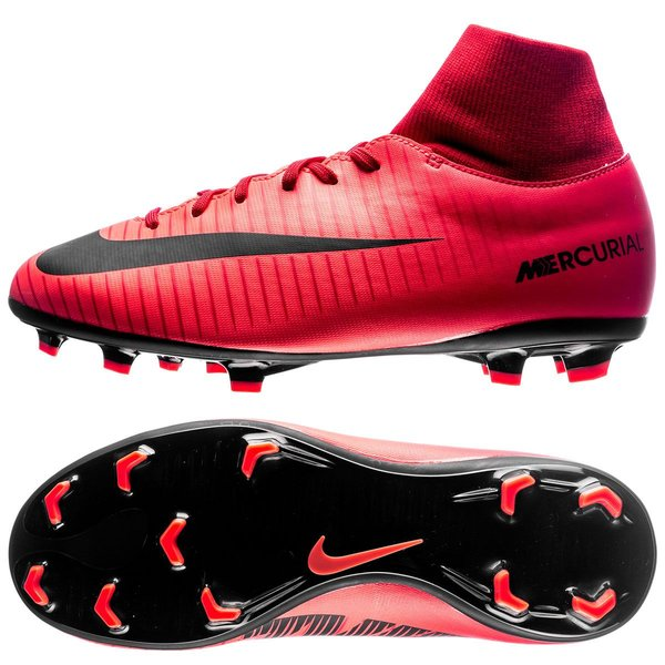 cae74cb3fdf 70.00 EUR. Price is incl. 19% VAT. -45%. Nike Mercurial Victory VI DF FG  Fire - University Red Black Kids