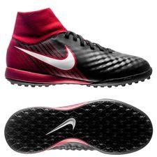 Nike MagistaX Onda II DF TF Fire - Zwart/Wit/Rood Kinderen