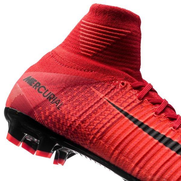 0433b7eded70 Nike Mercurial Superfly V FG Fire - University Red Black Kids