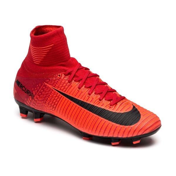 Nike Mercurial Superfly V Fg Fire University Red Black Kids