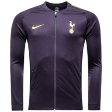 tottenham track top dry squad knitted - purple dynasty/opti yellow - training jackets