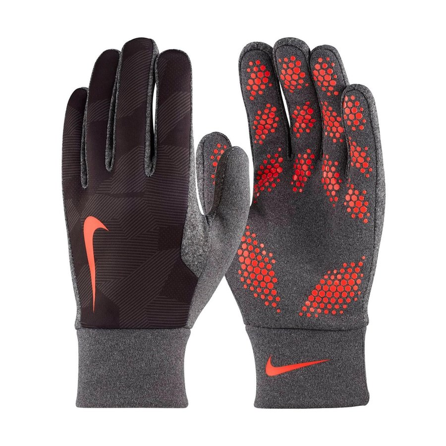 nike player gloves hyperwarm field player - black/bright crimson kids - player  gloves