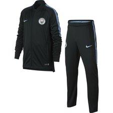 Manchester City Trainingspak Dry Squad Knit - Groen/Blauw Kinderen