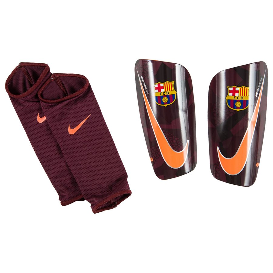 fc barcelone prot ge tibias mercurial lite bordeaux fonc orange. Black Bedroom Furniture Sets. Home Design Ideas