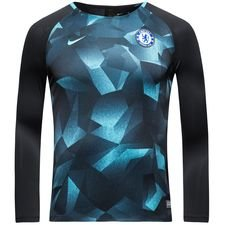 chelsea training shirt dry squad crew - black/omega blue kids - training tops
