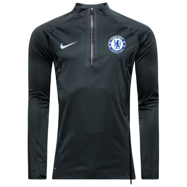 chelsea trainingsshirt aeroshield strike drill - grau/schwarz/blau - trainingsoberteile