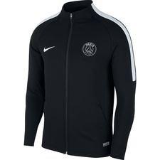 paris saint-germain træningsjakke dry strike knit - sort/grå - træningsjakke