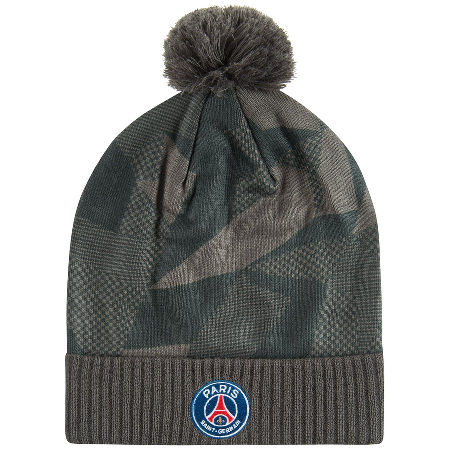 Paris Saint Germain Beanie Seasonal Anthracite Black Www Unisportstore Com
