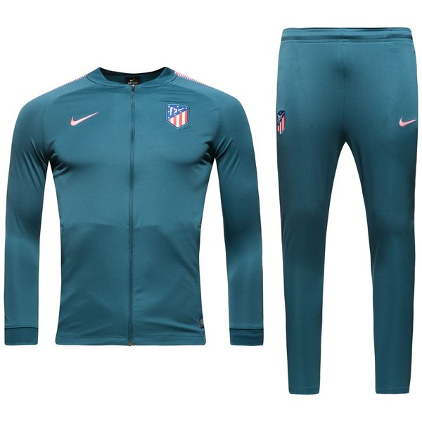 atletico madrid tracksuit dry squad knit - space blue/laser pink kids -  track suits ...