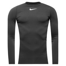 Nike Pro Warm Compression Mock L/Æ - Sort/Grå/Hvid