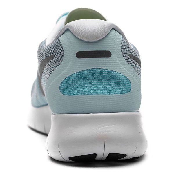 ... nike free rn 2017 - glacier blue/metallic silver women - running shoes  ...